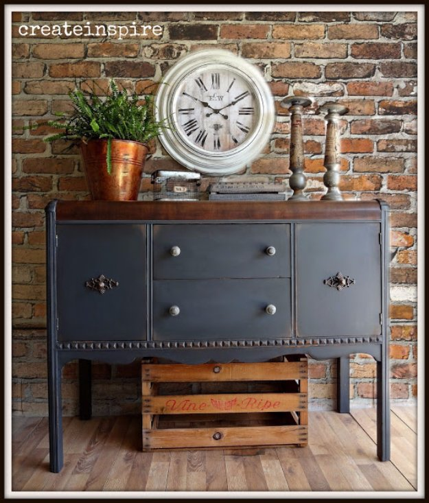 DIY Dining Room Decor Ideas - Vintage Buffet in Iron Ore - Cool DIY Projects for Table, Chairs, Decorations, Wall Art, Bench Plans, Storage, Buffet, Hutch and Lighting Tutorials