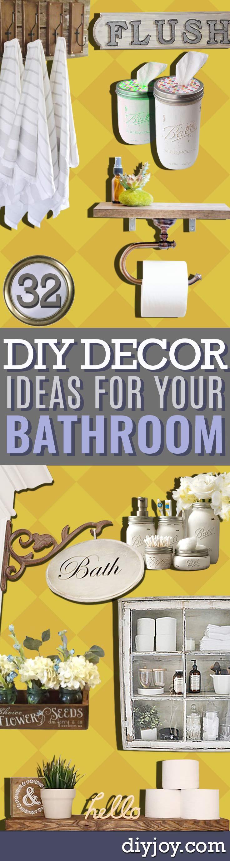 DIY Bathroom Decor Ideas - Cool Do It Yourself Bath Ideas on A ...