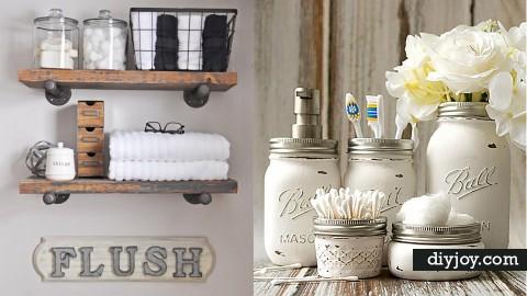 33 DIY Decor Ideas for the Bathroom | DIY Joy Projects and Crafts Ideas