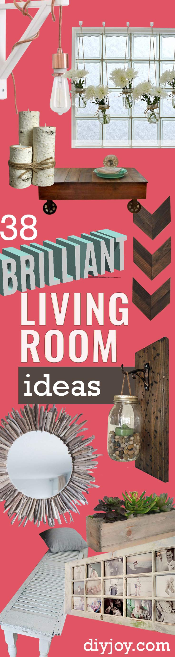 38 brilliant diy living room decor ideas page 2 of 7 diy joy Living room ideas diy