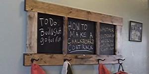 DIY Chalkboard Coat Rack Tutorial