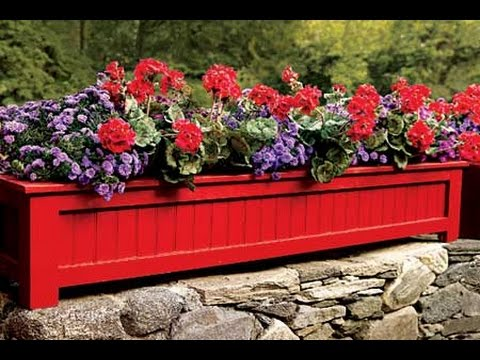Creative Ways to Increase Curb Appeal on A Budget - Charming Flower Outdoor Planter Box Brightens Up Any Yard! - Cheap and Easy Ideas for Upgrading Your Front Porch, Landscaping, Driveways, Garage Doors, Brick and Home Exteriors. Add Window Boxes, House Numbers