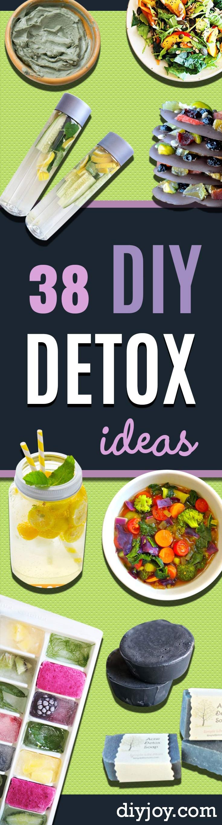 DIY Detox Recipes, Ideas and Tips - How to Detox Your Body, Brain and Skin for Health and Weight Loss. Detox Drinks, Waters, Teas, Wraps, Soup, Masks and Skincare Products You Can Make At Home
