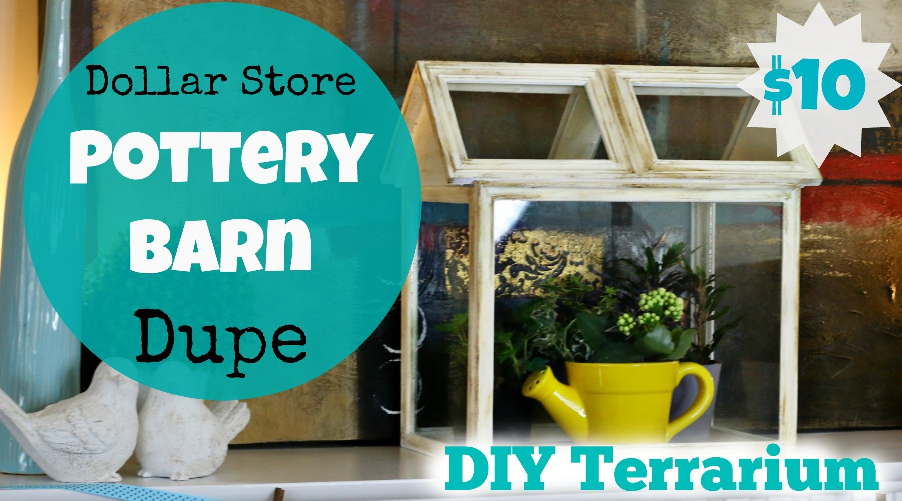 DIY Terrarium Ideas - DIY Pottery Barn Terrarium - Cool Terrariums and Crafts With Mason Jars, Succulents, Wood, Geometric Designs and Reptile, Acquarium - Easy DIY Terrariums for Adults and Kids To Make at Home