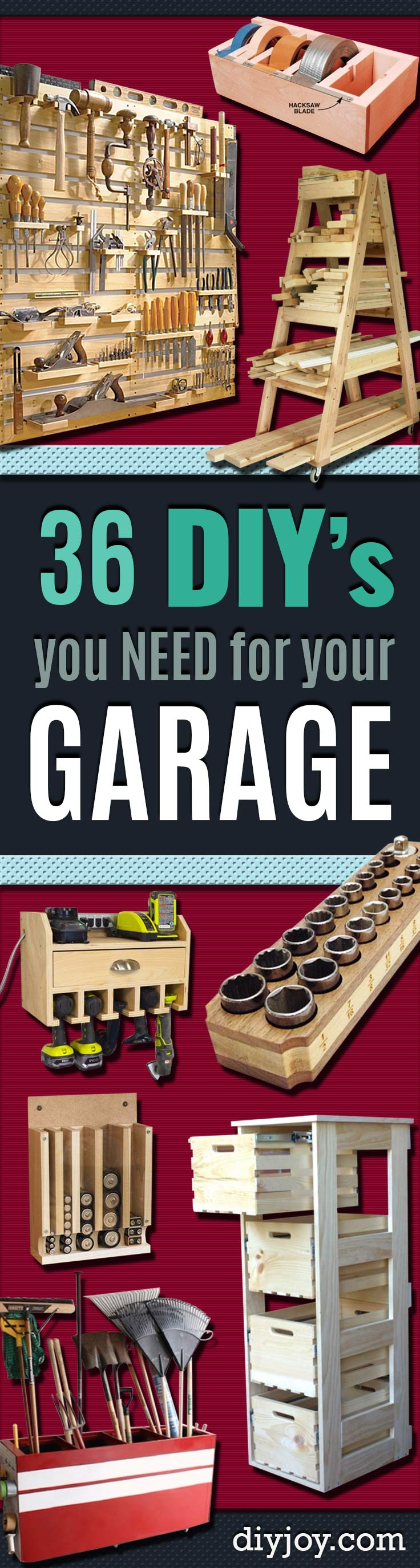 DIY Projects Your Garage Needs -Do It Yourself Garage Makeover Ideas Include Storage, Organization, Shelves, and Project Plans for Cool New Garage Decor