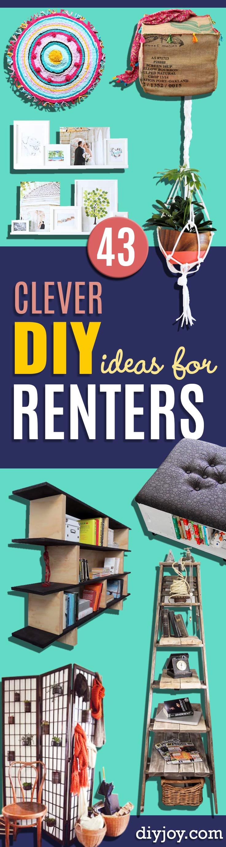 DIY Renters Decor Ideas   Cool DIY Projects For Those Renting Aparments,  Condos Or Dorm