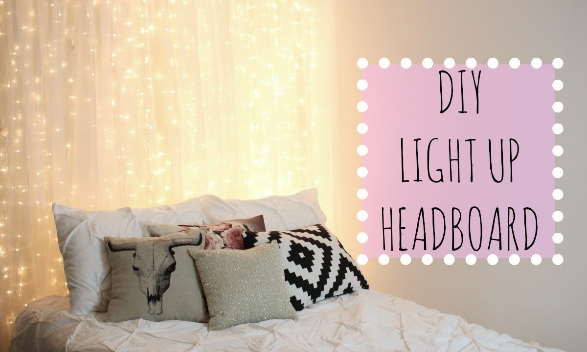 42 DIY Room Decor for Girls - DIY Light Up Headboard - Awesome Do It Yourself Room Decor For Girls, Room Decorating Ideas, Creative Room Decor For Girls, Bedroom Accessories, Cute Room Decor For Girls