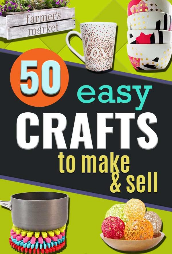 Easy Crafts To Make and Sell - Cool Homemade Craft Projects You Can Sell On Etsy, at Craft Fairs, Online and in Stores. Quick and Cheap DIY Ideas that Adults and Even Teens