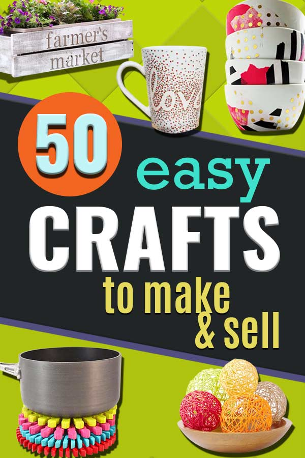 Easy Crafts To Make and Sell - Cool Homemade Craft Projects You Can Sell On Etsy, at Craft Fairs, Online and in Stores. Quick and Cheap DIY Ideas that Adults and Even Teens #crafts #craftstomakeandsell #easycrafts #craftideas #diy #diyideas #easydiyideas