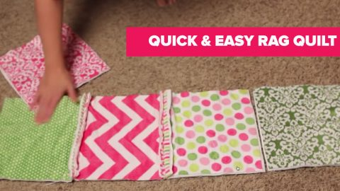 Learn How to Make A Rag Quilt | DIY Joy Projects and Crafts Ideas