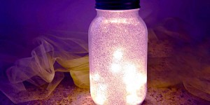 Glitter Fairy Mason Jar Night Light…Simply Stunning!