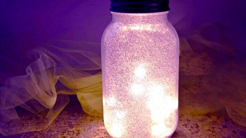 Glitter Fairy Mason Jar Night Light Simply Stunning