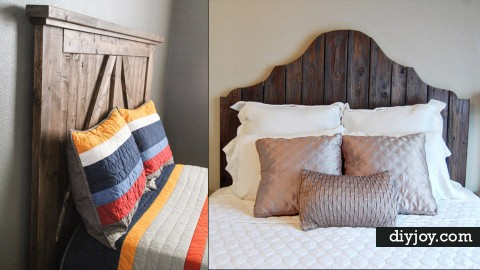 36 DIY Headboard Ideas for Your Bedroom | DIY Joy Projects and Crafts Ideas