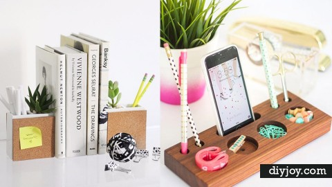 39 DIY Home Office Decor Projects | DIY Joy Projects and Crafts Ideas
