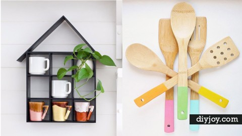 37 Creative DIY Kitchen Decor Ideas   DIY Joy Projects and Crafts Ideas