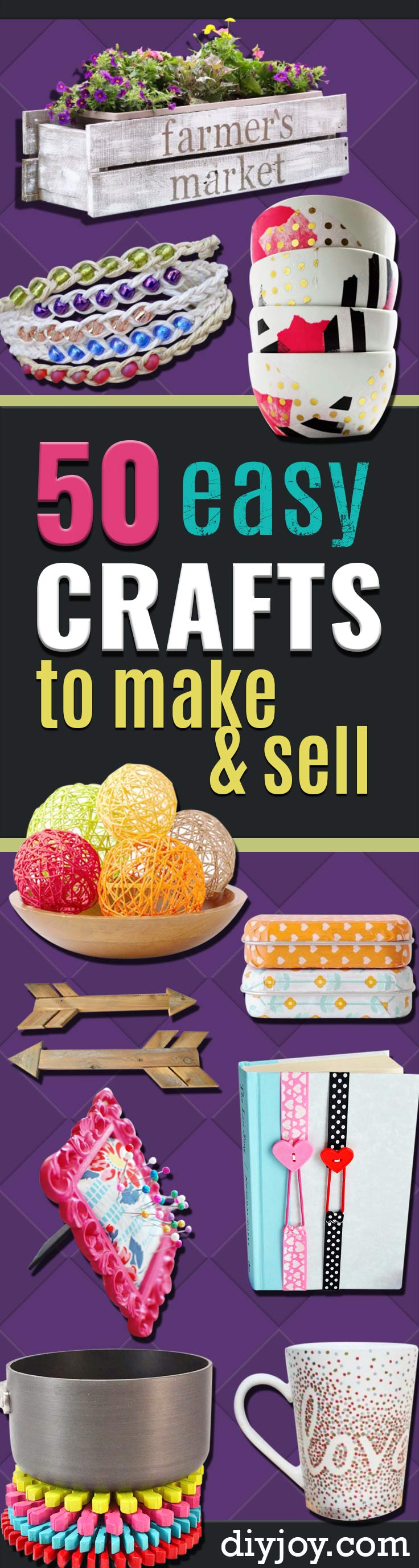 Easy Crafts To Make And Sell Cool Homemade Craft Projects You Can