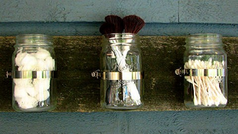 Awesome Mason Jar Organizer! Extra Storage & More Space! | DIY Joy Projects and Crafts Ideas
