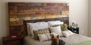 Fabulous Rustic Headboard Made Out of Pallets!  It's So Unique & Easy To Make!