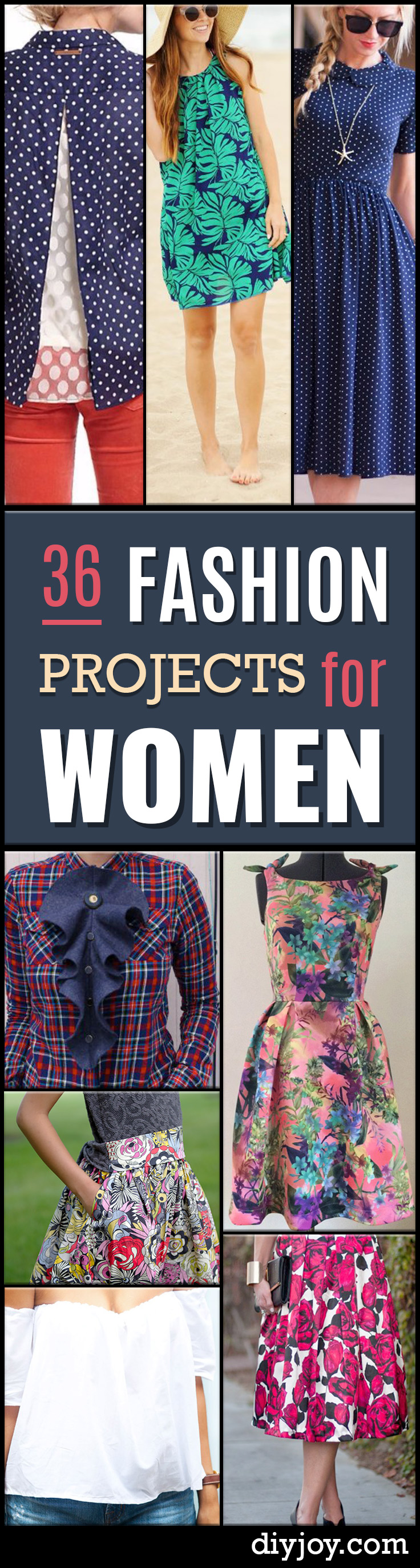 DIY Sewing Projects for Women - free patterns for clothing - How to Sew Dresses, Blouses, Pants, Tops and Fashion. Step by Step Tutorials and Instructions - homemade clothes ladies