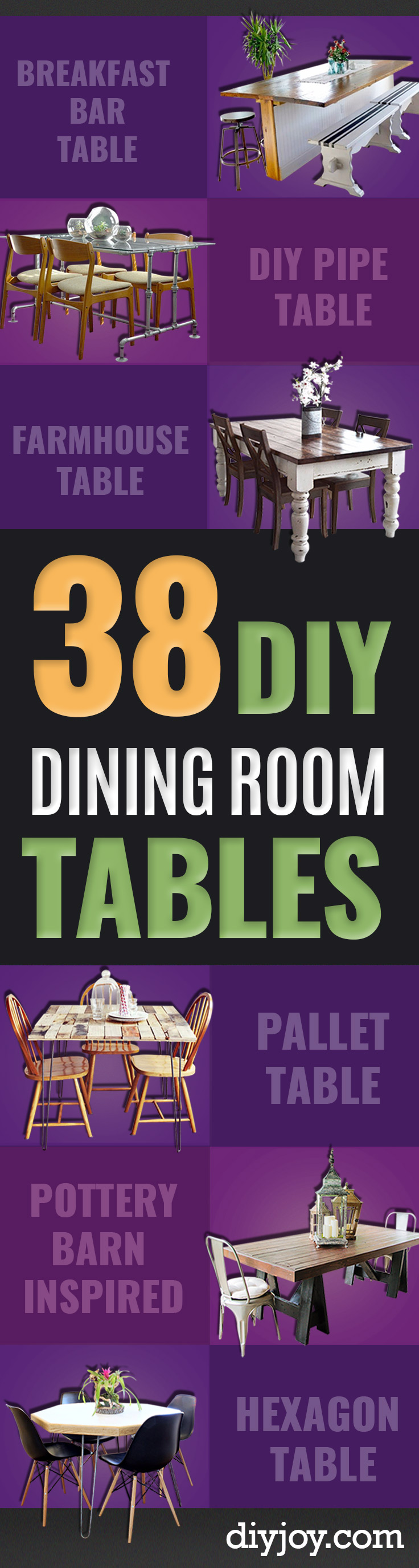 38 diy dining room tables diy dining room table projects creative do it yourself tables and ideas you can make solutioingenieria Choice Image