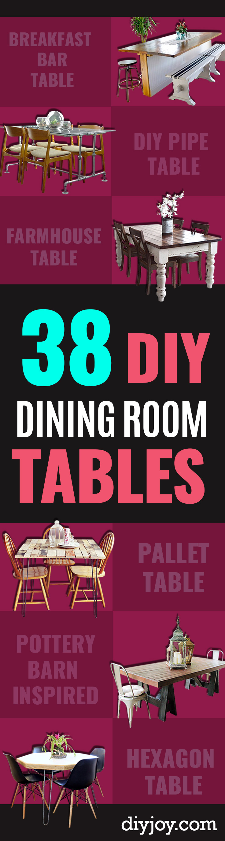 DIY Dining Room Table Projects - Creative Do It Yourself Tables and Ideas You Can Make For Your Kitchen or Dining Area. Easy Step by Step Tutorials that Are Perfect For Those On A Budget