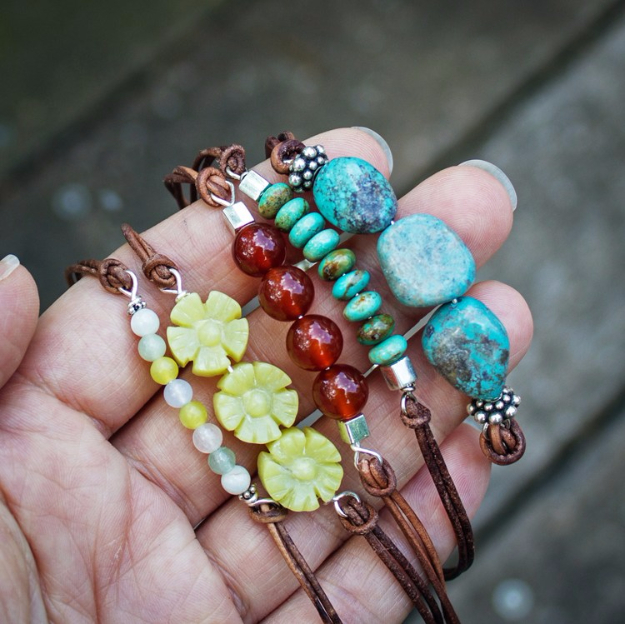 Creative Leather Crafts - Beaded Leather Bracelet - Best DIY Projects Made With Leather - Easy Handmade Do It Yourself Gifts and Fashion - Cool Crafts and DYI Leather Projects With Step by Step Tutorials http://diyjoy.com/diy-leather-crafts