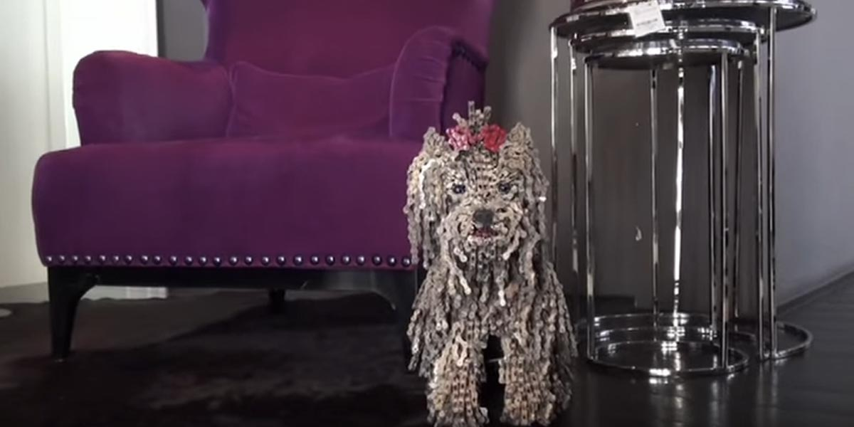 Wow This Bicycle Chain Dog Art Blows My Mind Amp It Will