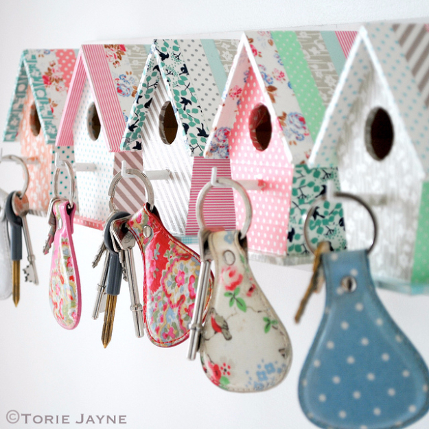 Cheap Crafts To Make and Sell - Bird House Key Hooks - Inexpensive Ideas for DIY Craft Projects You Can Make and Sell On Etsy, at Craft Fairs, Online and in Stores. Quick and Cheap DIY Ideas that Adults and Even Teens Can Make on A Budget #diy #crafts #craftstosell #cheapcrafts