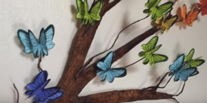 If You Love Butterflies Like I Do, You'll Love These 3D Butterflies on a Tree Branch!