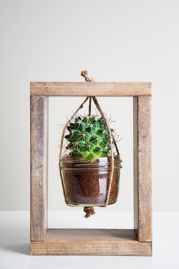 Creative DIY Planters - Cactus Planter Tutorial - Best Do It Yourself Planters and Crafts You Can Make For Your Plants - Indoor and Outdoor Gardening Ideas - Cool Modern and Rustic Home and Room Decor for Planting With Step by Step Tutorials #gardening #diyplanters #diyhomedecor