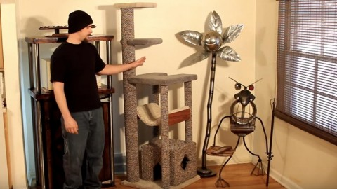 Build Your Heavy Duty Cat Tree So Your Cat Will Have Some Fun Entertainment! | DIY Joy Projects and Crafts Ideas