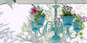 Make Your Darling Outdoor Chandelier Planter on a Budget!