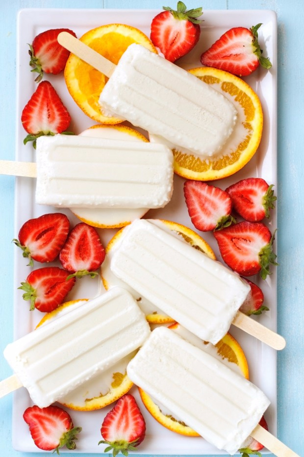 Last Minute Dessert Recipes and Ideas - Coconut Popsicles - Healthy and Easy Ideas for No Bake Recipe Foods, Chocolate, Peanut Butter. Best Simple Ideas for Summer, For A Crowd and for Parties