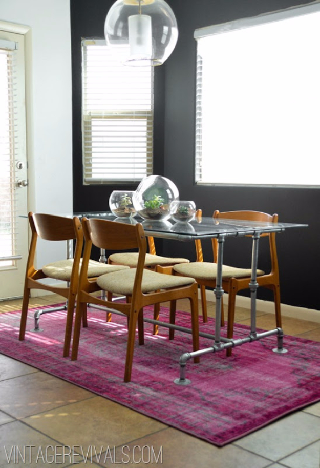 DIY Dining Room Table Projects - Conduit Pipe Table DIY - Creative Do It Yourself Tables and Ideas You Can Make For Your Kitchen or Dining Area. Easy Step by Step Tutorials that Are Perfect For Those On A Budget #diyfurniture #diningroom