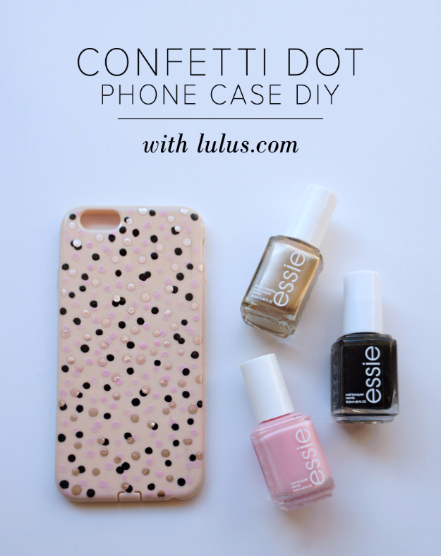 Cheap Crafts To Make and Sell - Confetti Dot Phone Case - Inexpensive Ideas for DIY Craft Projects You Can Make and Sell On Etsy, at Craft Fairs, Online and in Stores. Quick and Cheap DIY Ideas that Adults and Even Teens Can Make on A Budget #diy #crafts #craftstosell #cheapcrafts