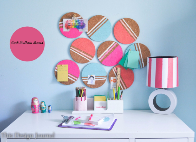 DIY Projects for Teenagers - Cork Bulletin Board - Cool Teen Crafts Ideas for Bedroom Decor, Gifts, Clothes and Fun Room Organization. Summer and Awesome School Stuff
