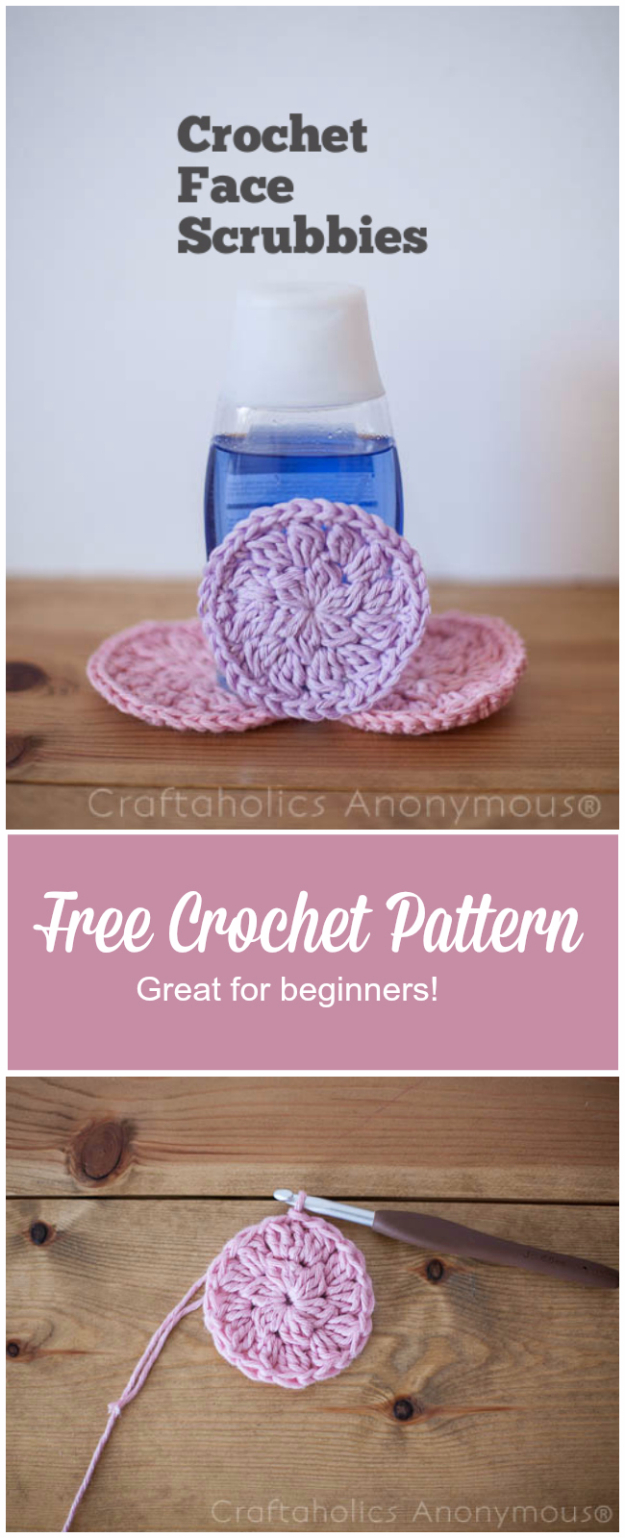 Cheap Crafts To Make and Sell - Crochet Face Scrubbies - Inexpensive Ideas for DIY Craft Projects You Can Make and Sell On Etsy, at Craft Fairs, Online and in Stores. Quick and Cheap DIY Ideas that Adults and Even Teens Can Make on A Budget #diy #crafts #craftstosell #cheapcrafts