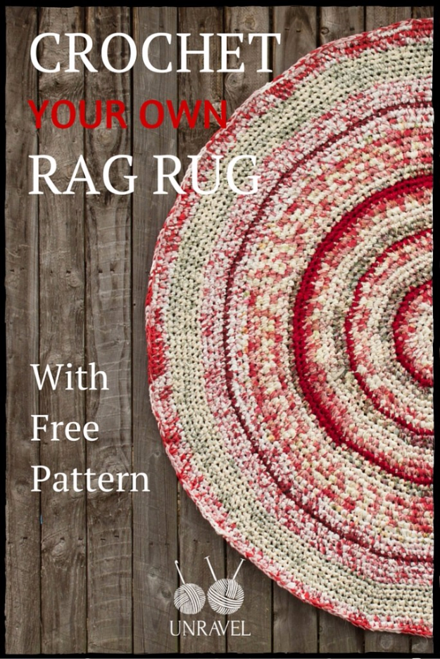 Easy DIY Rugs and Handmade Rug Making Project Ideas - Crochet Your Own Rag Rug - Simple Home Decor for Your Floors, Fabric, Area, Painting Ideas, Rag Rugs, No Sew, Dropcloth and Braided Rug Tutorials