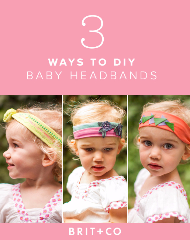 Sewing Crafts To Make and Sell - DIY Baby Headbands - Easy DIY Sewing Ideas To Make and Sell for Your Craft Business. Make Money with these Simple Gift Ideas, Free Patterns, Products from Fabric Scraps, Cute Kids Tutorials #sewing #crafts