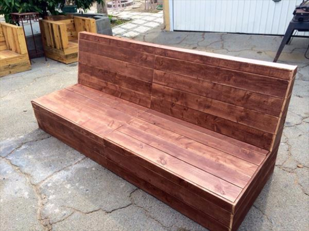 DIY Sofas and Couches - DIY Beefy Pallet Armless Outdoor Sofa - Easy and Creative Furniture and Home Decor Ideas - Make Your Own Sofa or Couch on A Budget - Makeover Your Current Couch With Slipcovers, Painting and More. Step by Step Tutorials and Instructions http://diyjoy.com/diy-sofas-couches