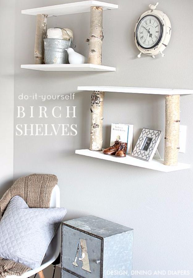 37 brilliantly creative diy shelving ideas for Tree shelving unit