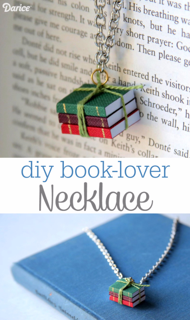 DIY Projects to Make and Sell on Etsy - DIY Book Lover Necklace - Learn How To Make Money on Etsy With these Awesome, Cool and Easy Crafts and Craft Project Ideas - Cheap and Creative Crafts to Make and Sell for Etsy Shop #etsy #crafts