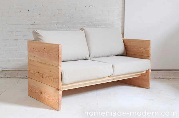 DIY Sofas and Couches - DIY Box Sofa - Easy and Creative Furniture and Home Decor Ideas - Make Your Own Sofa or Couch on A Budget - Makeover Your Current Couch With Slipcovers, Painting and More. Step by Step Tutorials and Instructions http://diyjoy.com/diy-sofas-couches