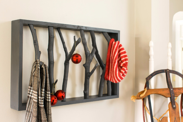 diy shelves and do it yourself shelving ideas diy branch shelf easy step by