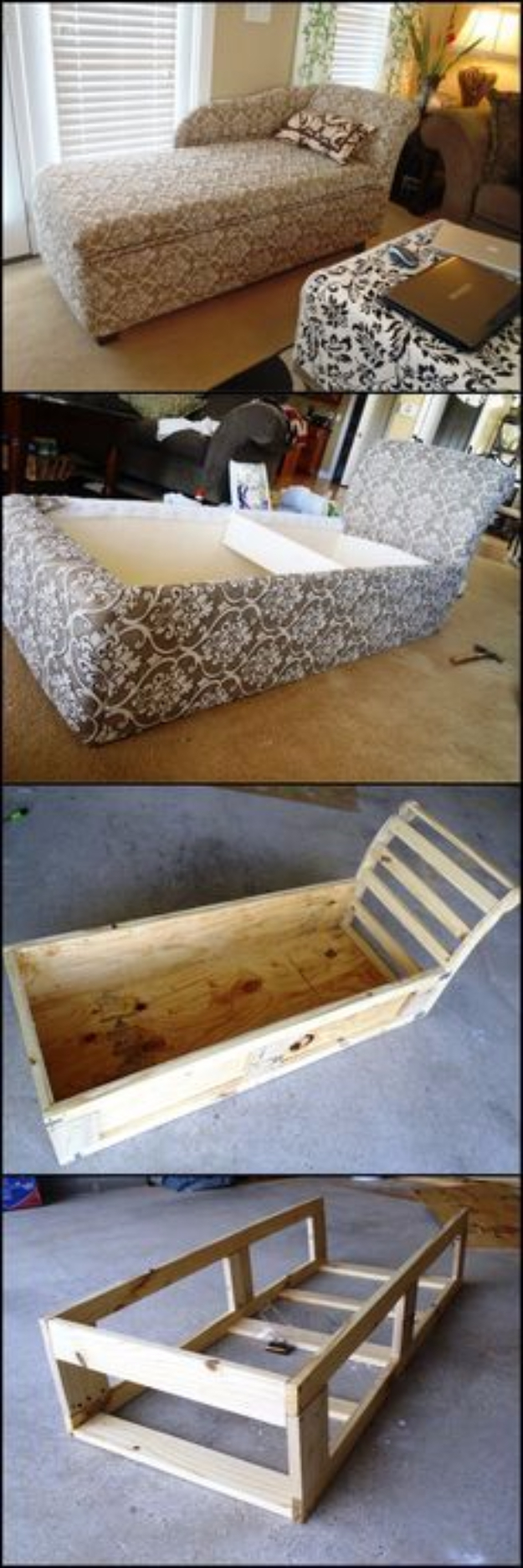 DIY Sofas and Couches - DIY Chaise Lounge With Storage - Easy and Creative Furniture and Home Decor Ideas - Make Your Own Sofa or Couch on A Budget - Makeover Your Current Couch With Slipcovers, Painting and More. Step by Step Tutorials and Instructions #diy #furniture