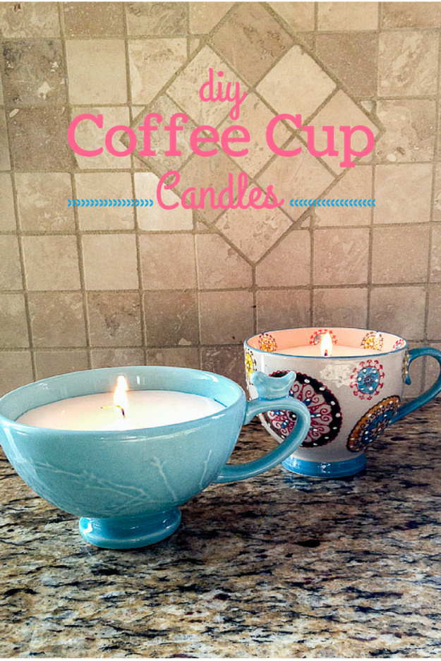 DIY Projects to Make and Sell on Etsy - DIY Coffee Cup Candles - Learn How To Make Money on Etsy With these Awesome, Cool and Easy Crafts and Craft Project Ideas - Cheap and Creative Crafts to Make and Sell for Etsy Shop #etsy #crafts