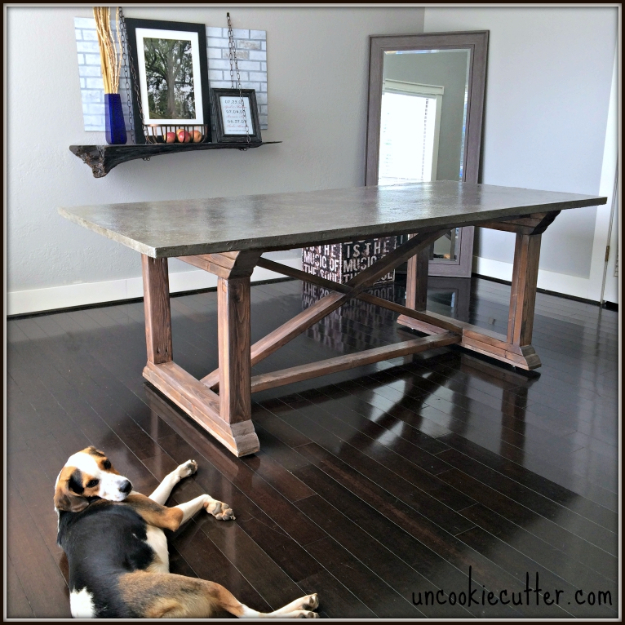 DIY Dining Room Table Projects - DIY Concrete Dining Table - Creative Do It Yourself Tables and Ideas You Can Make For Your Kitchen or Dining Area. Easy Step by Step Tutorials that Are Perfect For Those On A Budget #diyfurniture #diningroom