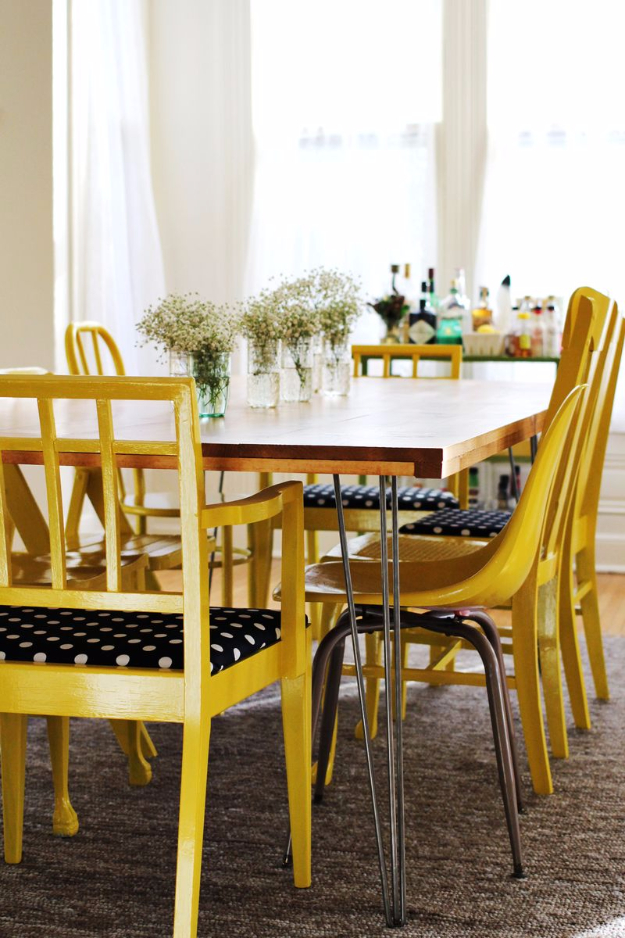 DIY Dining Room Table Projects - DIY Dining Room Table With Hairpin Legs - Creative Do It Yourself Tables and Ideas You Can Make For Your Kitchen or Dining Area. Easy Step by Step Tutorials that Are Perfect For Those On A Budget #diyfurniture #diningroom