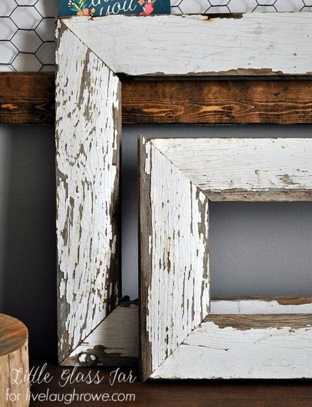 DIY Farmhouse Style Decor Ideas - DIY Farmhouse Frames - Creative Rustic Ideas for Cool Furniture, Paint Colors, Farm House Decoration for Living Room, Kitchen and Bedroom #diy #diydecor #farmhouse #countrycrafts