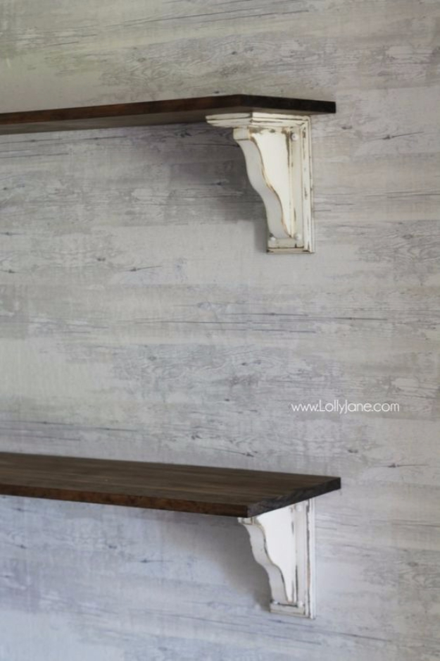 DIY Shelves and Do It Yourself Shelving Ideas - DIY Farmhouse Shelves - Easy Step by Step Shelf Projects for Bedroom, Bathroom, Closet, Wall, Kitchen and Apartment. Floating Units, Rustic Pallet Looks and Simple Storage Plans #diy #diydecor #homeimprovement #shelves